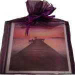 Purple Organza Gift Bag